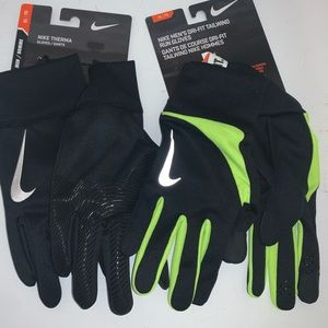🔐 LOT OF 2 MENS NIKE THERMA / TAILWIND RUN GLOVES